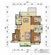 上上城・壹号院3室2厅2卫138平方米户型图
