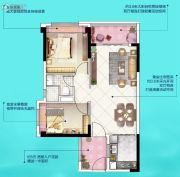 广州挂绿湖碧桂园2室2厅1卫75平方米户型图