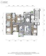 龙湖景粼玖序4室2厅4卫193平方米户型图