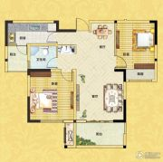 正商红河谷2室2厅1卫89平方米户型图