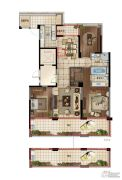 绿地华家池印3室2厅2卫0平方米户型图