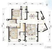 青岛星河湾3室2厅0卫136平方米户型图