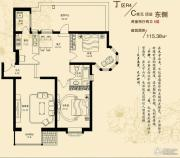 大宁山庄2室2厅2卫115平方米户型图