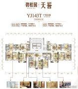 碧桂园・天誉4室2厅2卫110--138平方米户型图