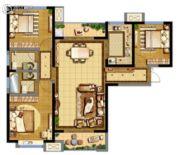 德杰・德裕天下3室2厅2卫122平方米户型图