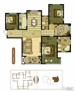 奥北公元4室2厅2卫176平方米户型图
