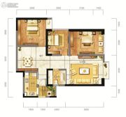 东方希望天祥广场天荟2室2厅1卫107平方米户型图