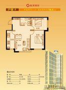 隆润国际2室2厅1卫76平方米户型图