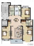 福宇凤凰华庭3室2厅2卫128平方米户型图