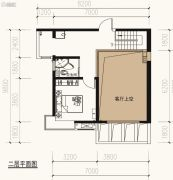 保利天禧2室2厅2卫126平方米户型图