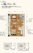 西部人才产业园1室1厅1卫47--49平方米户型图