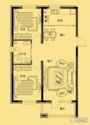 多恩海棠湾2室2厅1卫85平方米户型图