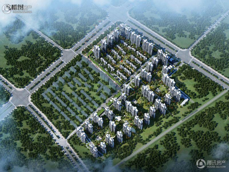 安阳建业桂园鸟瞰图