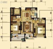 中顺上尚府2室2厅1卫88平方米户型图
