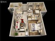 融信双杭城2室2厅1卫70平方米户型图