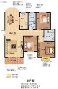 玉恒桥郡3室2厅2卫138平方米户型图