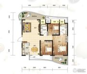 大都金沙湾3室2厅2卫118平方米户型图