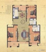 金通桂园 高层3室4厅3卫199平方米户型图