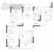 同信・滨江贰号3室2厅2卫129平方米户型图