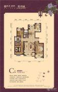 银丰唐郡・牡丹园3室2厅2卫140平方米户型图