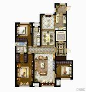 哈尔滨星光耀广场3室2厅2卫0平方米户型图