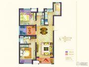 世茂国际广场3室2厅2卫132平方米户型图