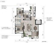 重庆・阳光城3室2厅2卫99--115平方米户型图