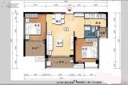 大同・南海馨居2室2厅1卫71平方米户型图