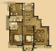 恒威中央领地3室2厅2卫146平方米户型图