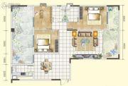 韶关・亿华时代广场3室2厅2卫126平方米户型图