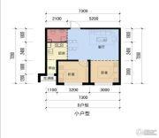 双安金都2室1厅1卫0平方米户型图