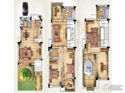 绿洲天逸城3室3厅3卫210平方米户型图