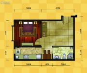 十三街区1室1厅1卫52平方米户型图