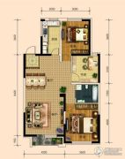 东安瑞凯国际3室2厅1卫113平方米户型图