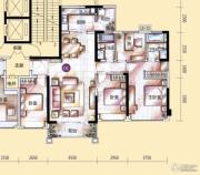 敏捷金月湾4室2厅2卫142平方米户型图