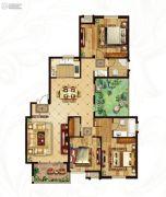 冠城大通蓝湾4室2厅2卫166平方米户型图