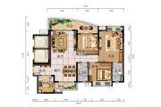 时代御京新城3室2厅2卫126平方米户型图