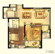 绿地峰云汇2室2厅1卫84平方米户型图