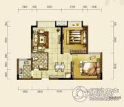 双发东城印象2室2厅1卫74平方米户型图