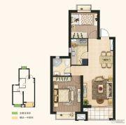 东亚御景湾2室2厅1卫76平方米户型图