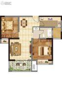 香榭里畔山兰溪2室2厅1卫88平方米户型图