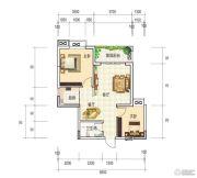 和世新都2室2厅1卫72平方米户型图
