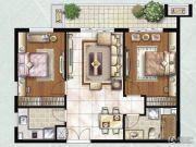 雨润北海湾2室2厅1卫103平方米户型图