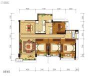 雅居乐新城湾畔4室2厅2卫141平方米户型图