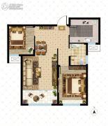 大成门2室2厅1卫83平方米户型图