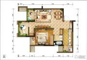重庆巴南万达广场1室2厅1卫63平方米户型图