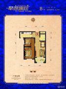 翠湖澜庭2室2厅1卫63平方米户型图