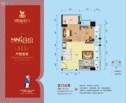 凯旋名门2室1厅1卫63平方米户型图