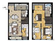 帝景现代城4室2厅2卫93平方米户型图