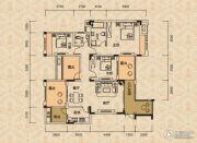北麓国际城3室2厅2卫104平方米户型图